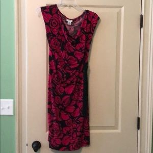 Hot pink and black maternity dress by MM